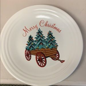Fiesta Merry Christmas plate with wagon new